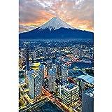 ZIHUAD Puzzle de Madera 1000 Piezas Japón Fuji Montaña Forma única Piezas de Rompecabezas A-300