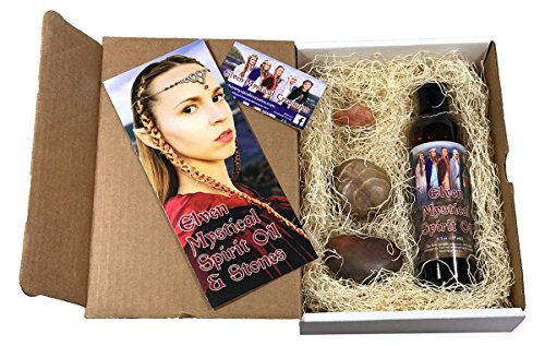 Elven Mystical Healing's Hot Stone Massage kit, with 100% All natural Essential Oils, 8 oz. therapeutic healing Muscle Rub massage oil blend, 3-Hot Stones included. For aches,pains,spasms,and more.