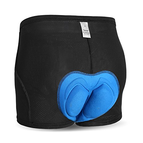INBIKE Radunterhose Herren Fahrradhose Kurz männer Unterwäsche Radlerhose Atmungsaktiv 3D Gel Sitzpolster für Radfahrren MTB Radsport(Gel,L)