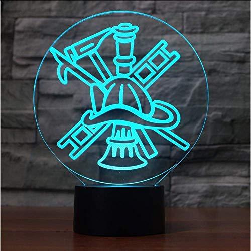 LED 3D brandblusser USB nachtlampje creatieve sfeerverlichting tafellamp Home Decor lamp voor kinderen geschenken