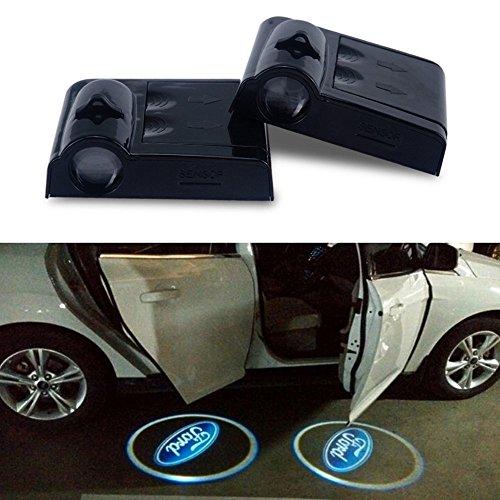 Preisvergleich Produktbild ATK 2 x bellose Einstiegsbeleuchtung für die Autotür mit -Logo