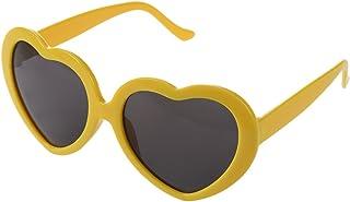 MLXG - Gafas de sol en forma de gato de verano, color amarillo
