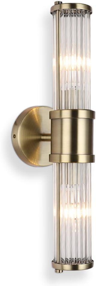 Max 56% OFF Glass Wall Light New arrival Fixture Indoor Bathroom Bronze Antique ECOBRT