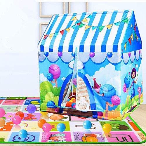 Dream-cool Zelt Haus für Kinder, Spielzelt Kinderzelt Spielhaus Outdoor Baby Zelt Spielzeug Mädchen Prinzessin Zimmer Junge Motto Camping Zelt, Blue - Circus House