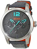 BOSS Orange Montre pour homme avec bracelet à quartz analogique Paris Textile 1513379