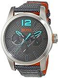 Hugo Boss Orange Paris Men's Quartz multi dial Grey Nylon Strap 1513379