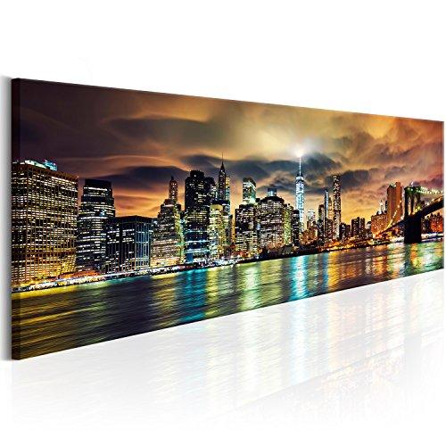 murando Handart Cuadro en Lienzo Nueva York City NY 150x50 cm 1 Pieza Cuadros Decoracion Salon Modernos Dormitorio Impresión Pintura Moderna Arte New York NY Ciudad City d-B-0085-b-b