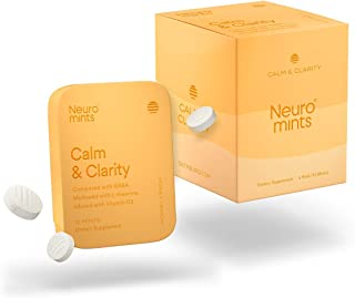 Neuro Mints Nootropic Calm Mints | GABA + Vitamin D3 + L-theanine | Sugar free + Gluten free + Non GMO + Vegan | Honey Lem...