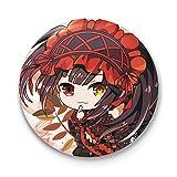 Mini Office Depot Anime japonés Date A Live Broche Badge Set, Pin de Dibujos Animados Accesorios para Ropa Sombrero Mochila Decoración(Style 01)
