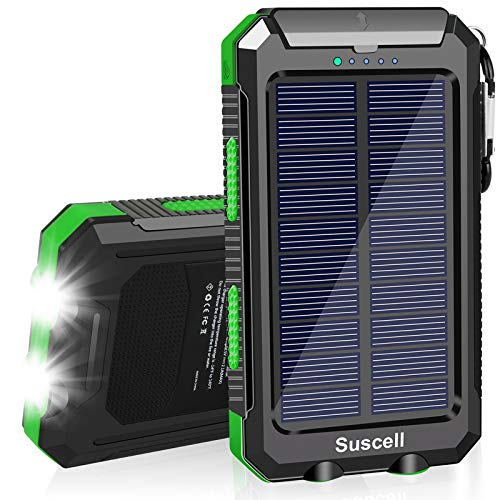 Solar Phone Charger, 20000mAh Portable Solar Power Bank for Cell Phone, with Dual USB Output External Battery Pack, Ultra Bright 2 LED Flashlights, Perfect for Outdoor   Camping   Hiking   Emergency