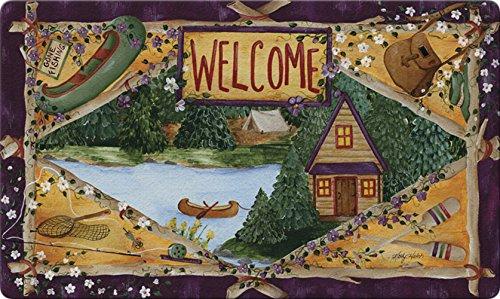 Toland Home Garden Lakeside Welcome 18 x 30 Inch Decorative Floor Mat Outdoors Fishing Lake Cabin Doormat