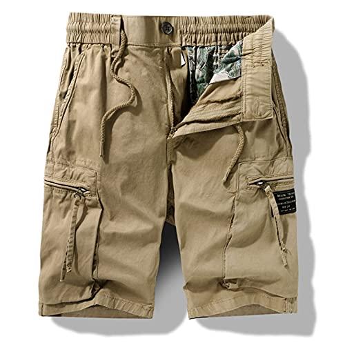 Pantalones cortos de trabajo para hombres, shorts de algodón de trabajo de verano, plus S-5XL, bolsillos delanteros y traseros 6 bolsillos, bolsillos con cremallera. Pantalones cortos de trabajo, pant