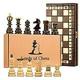 ajedrez madera 40x40 plegable