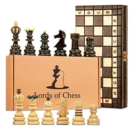 Scacchiera in Legno Professionale Scacchi - Chess, Scacchiere Set Portatile Gioco da Viaggio per Adulti Bambini 42 x 42 cm