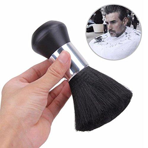 Asien Barber Soft Neck Duster Pinsel Friseur-Reinigungsbürste Haare schneiden Salon Stylist Black