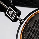 Audeze LCD-3 Over Ear Open Back Headphone Zebrano Wood Rings with New Suspension Headband