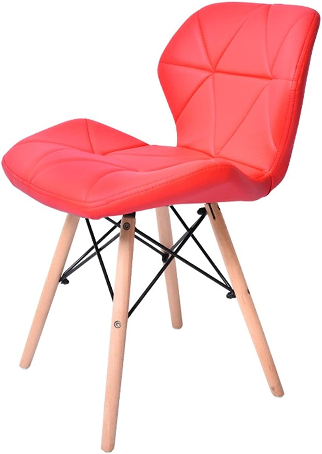 SJB PU Chair Soft Dining Chair Leisure Nordic Cafe Modern Simple Chair Office Chair Negotiating Chair (color   E)