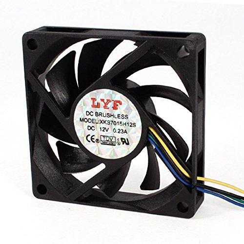 Computadora CPU Cooler Radiador DC 12V 0.23A 4-Pin 7 cm x 7 cm ventilador de refrigeración