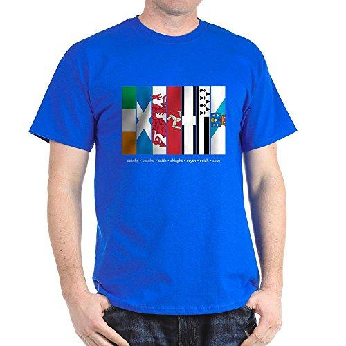 CafePress Seven Celtic Nations Dark T Shirt 100% Cotton T-Shirt