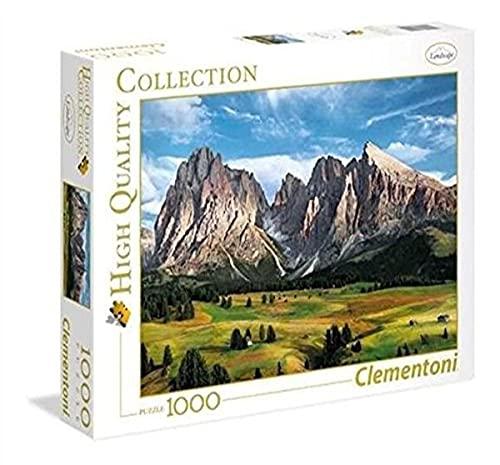 Clementoni 39414 Clementoni-39414 Collection-The Coronation of The Alps-1000 Pieces, Multi-Colour