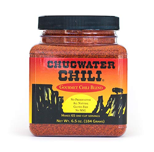 Chugwater Chili | Gourmet Chili Seasoning Mix & Taco Seasoning | 6.5oz Tub | Wyoming State Championship Chili Recipe | Secret Blend 12 Spices | All Natural, Gluten Free, No MSG & No Preservatives.