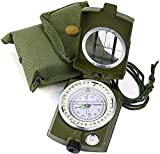 Pullox magnatic Compass Compact Portable Lensatic Tactical Compass | Impact Resistant and Waterproof |Metal Sighting Navigation Compasses for Hiking, Camping, Motoring, Boating, Boy Scout