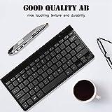 Teclado inalámbrico 2.4G, Mouse con Teclado portátil, Mouse con Teclado inalámbrico, para Smart para Notebook(Black Keyboard + Gray Pen Mouse)