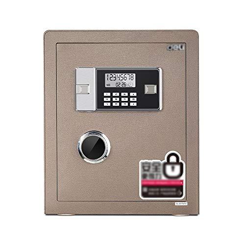 ZXQZ Caja Fuerte, de Seguridad Digital Electronic Cash Box Todos Acero 25 / 45cm Home Office Password Safe con Multifunción LED Panel y Teclado Numérico Gabinete Seguro (Size : 45cm)