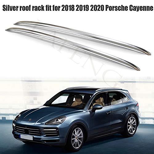 LAFENG Baca plateada para portaequipajes de techo Porsche Cayenne 2018 2019 2020 de aleación de aluminio para portaequipajes de techo