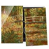 Bilderwelten Cubre encimeras - Claude Monet - Waterlily Pond and Japanese Bridge, 60x52 cm