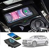 QXIAO Chargeur de Panneau D'accessoires de Console Centrale de Voiture sans Fil pour BMW X3 2018...