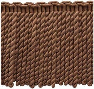 "PR08 5 Yards Artichoke 6/"" Bullion Fringe Trim Color Light Brown Oak Brown"