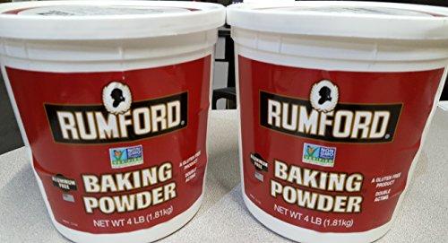 Rumford Aluminum-Free Baking Powder 4 Lbs (Pack of 2)