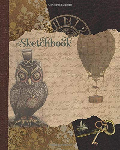 Sketchbook: Steampunk Art Book with Frames for Drawing
