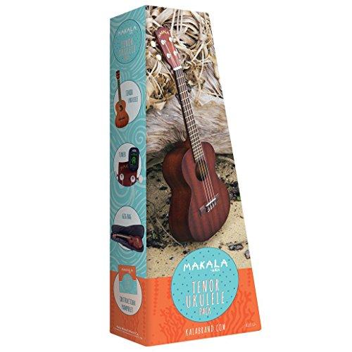 Makala Mahogany Tenor Ukulele Pack w/bolsa, sintonizador, folleto de instrucciones