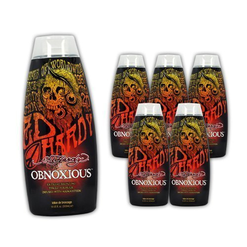 Lot 6 Ed Hardy Obnoxious Indoor Tanning Lotion Accelerator Bronzer Dark Tan Bed by Ed Hardy