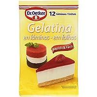 Dr. Oetker - Gelatina en láminas - 12 láminas