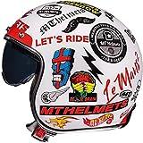 Il casco da motociclista ZHXH per donna, il casco da motociclista Harley Adult Street Riding 3/4 può nascondere gli occhiali/punto approvato,