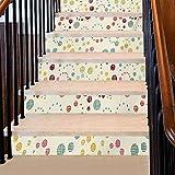 Papel pintado estilo victoriano con motivos florales, diseño de motivos naturales, diseño femenino, material duradero que hará que la escalera dure muchos años, verde esmeralda pálido, Multi 10,...