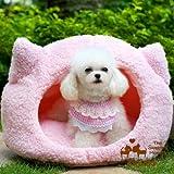pink dog bed image