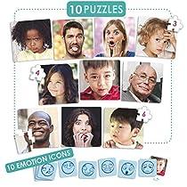 Akros-20544-Juego-de-Puzzles-10-Emociones-Juegos-de-Aprendizaje-colormodelo-surtido