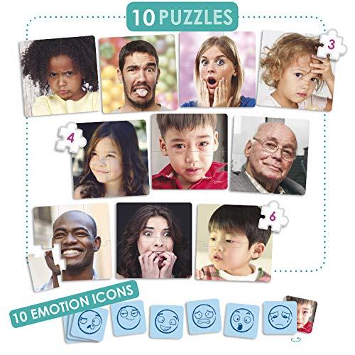 Akros 20544 - Juego de Puzzles - 10 Emociones Juegos de Aprendizaje , color/modelo surtido