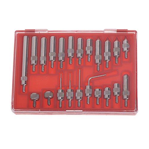 Sweo 22-teiliges Stahl-Zifferblatt-Indikator-Punkt-Set, 4–48 Gewinde-Spitze für Messuhr und Messanzeige