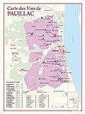 Carte des vins de Pauillac
