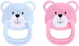 2 Pcs Reborn Doll Accessories Magnetic Pacifier Soother for The Simulated Baby Doll