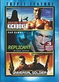 Van Damme Triple Feature (Kickboxer / Replicant / Universal Soldier)