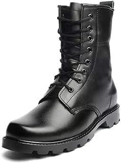 b141b56d Hombre Botas de Piel Botas Tácticas de Combate Transpirables Botas  Militares Zapatos de Tobillo al Aire
