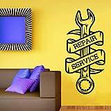fdgdfgd Garage Mur Autocollant clé Service de réparation Atelier Logo Papier Peint Art déco Vinyle Sticker Mural Salon décor à la Maison