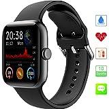 Montre Connectée, KUNGIX Fitness Tracker avec Moniteur de Fréquence et de Cardiaque 1.54 Écran Couleur IP68 Etanch Smartwatch Bluetooth Trackers d'Activité Sport Montre pour Hommes et Femmes