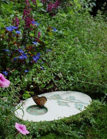 Outdoor Butterfly Puddling Stone for Pollinators and Garden Decor